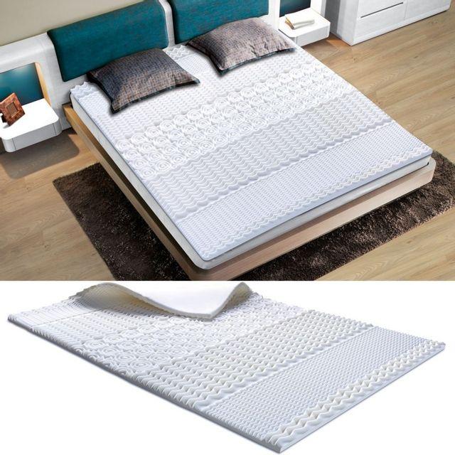 idmarket surmatelas mousse m moire de forme 7 zones 90x190 cm pas cher achat vente sur. Black Bedroom Furniture Sets. Home Design Ideas