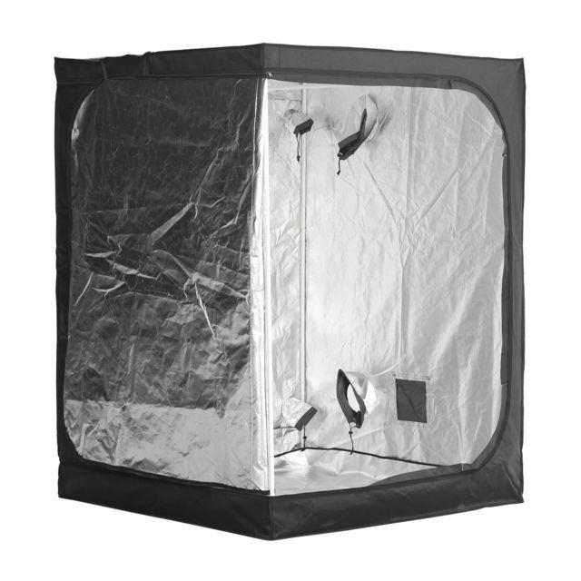 OUTSUNNY - Chambre de culture hydroponique tente de culture grow box 1,5L x 1,5l x 2H m polyester mylar noir neuf 52