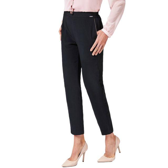 Guess - Pantalon Femme Eleanor Noir - Taille