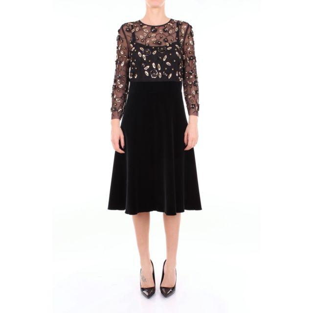 Botondi Milano Botondi Femme Bw1914812442BLACK Noir Polyester Robe
