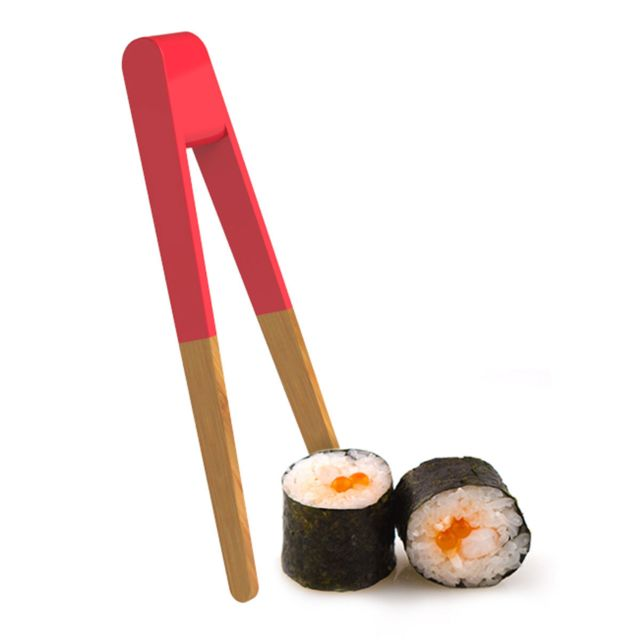Pebbly Kitchen Pince à sushi 15 cm - rouge