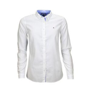 tommy hilfiger chemise piqu e jenna blanche pour femme pas cher achat vente chemise femme. Black Bedroom Furniture Sets. Home Design Ideas
