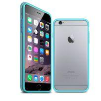 Caseink - Coque Housse Etui Bumper Bimatière pour iPhone 6 / 6s 4.7, Bleu - Transparent, protecteur Ultra Clear Hd