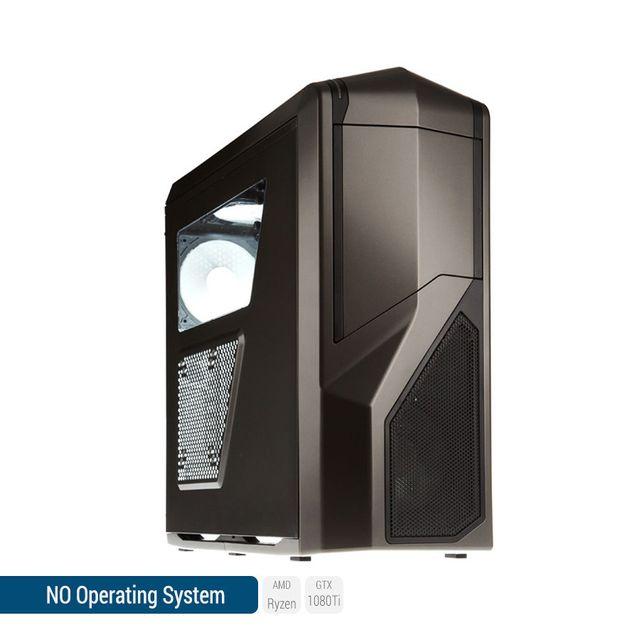 SEDATECH PC Gamer, AMD Ryzen 7, GTX 1080Ti, 500 Go SSD, 3 To HDD, 32Go RAM, sans OS. Ref: UCM6161I2