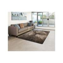 Tapis de salon déco - Ibiza - Design nature tronc d\'arbre - Marron clair -  160 X 230 cm