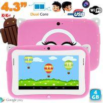 Yonis - Tablette tactile enfant YoKid Mini 4.3 pouces Android 4.4 rose 4Go