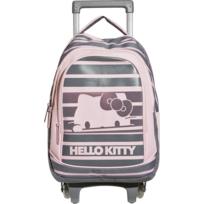HELLO KITTY - Sac à dos à roulettes - 2 Compartiments - L30,1cm