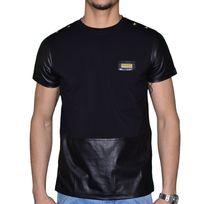 Distinct By Rohff - Distinct - T Shirt Manches Courtes - Bi Matiere - Homme - Tour - Noir