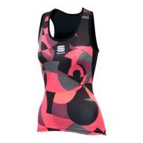Sportful - Débardeur Primavera noir rose femme