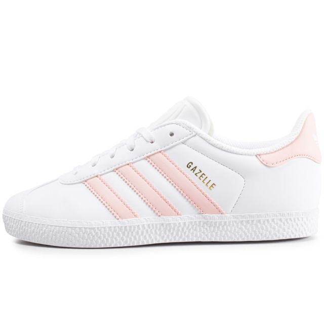 Adidas originals - Gazelle Junior Blanche Et Rose. Pointure pour enfant :
