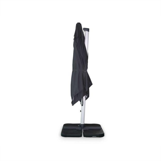ALICE'S GARDEN Parasol déporté haut de gamme carré 3x3m