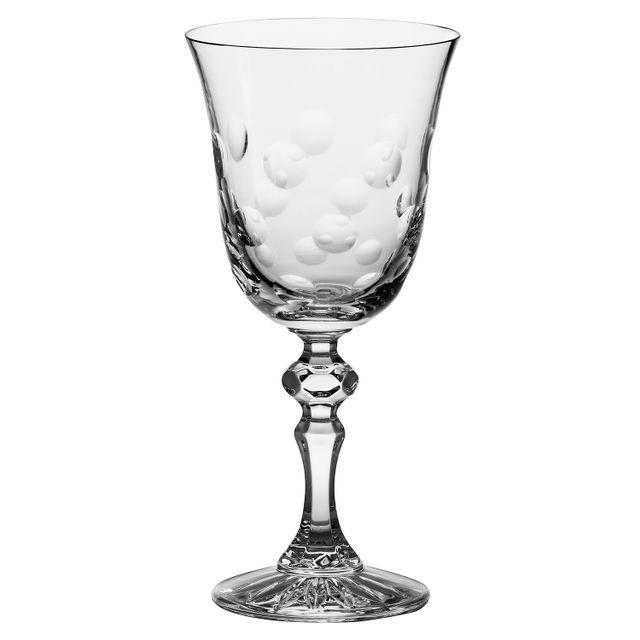 Cristal de Paris Verres n°2 à pied eau x 6 cristal 20cl Marion