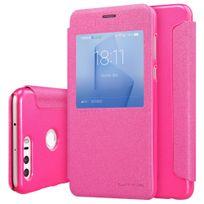 Nillkin - Etui rabat latéral rose aspect satiné pour Huawei Honor-8