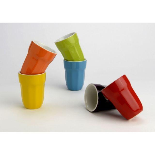 Amadeus Lot de 6 Mugs Colorés