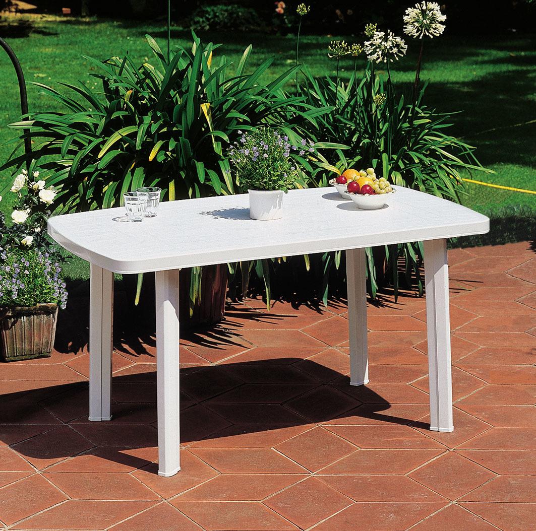 FARO - Table de jardin rectangulaire - Blanc - 909908 à Prix ...