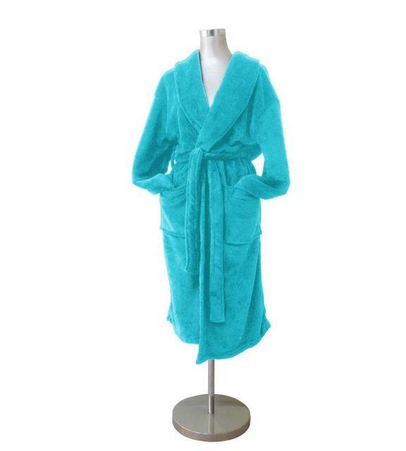 soleil d 39 ocre peignoir de bain microfibre turquoise taille l pas cher achat vente. Black Bedroom Furniture Sets. Home Design Ideas