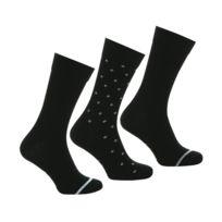 7425cc6e7f4 Coffret de 3 paires de chaussettes en coton peigné noir et noir à motifs
