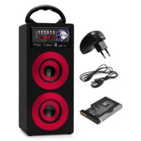 Beatfoxx - Lacoon Beachside Bluetooth haut-parleur portable Usb, Sd, Aux, Ukw/MW rouge Set accu + alimentation