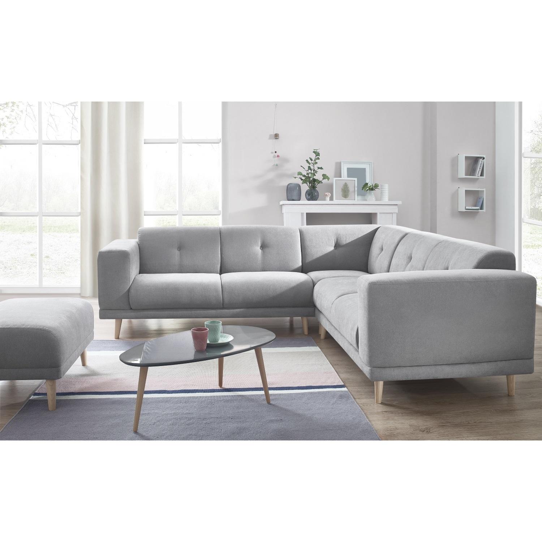 bobochic canape d 39 angle panoramique avec pouf luna gris clair 246cm x 75cm x 246cm achat. Black Bedroom Furniture Sets. Home Design Ideas