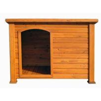 Dedans Dehors - Niche chien toit plat pour chiens petits et moyens