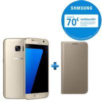 Galaxy S7 Or + - Etui à rabat pour Galaxy S7 - Or EF-WG930PFEGWW