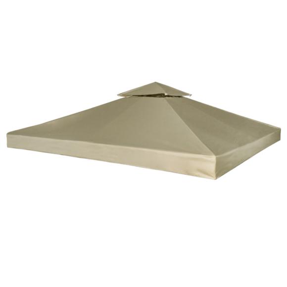Rocambolesk - Superbe Toile de Rechange pour Gazebo Tonelle Marron 270 g/m² neuf
