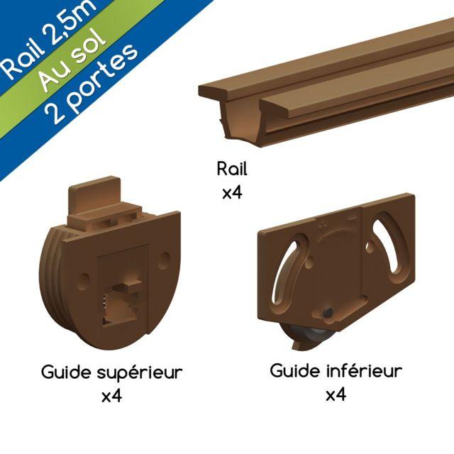 wimove syst me coulissant tw bronze pour 2 portes de. Black Bedroom Furniture Sets. Home Design Ideas
