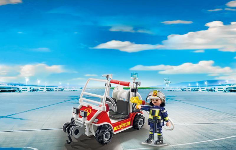 Chef des pompiers avec voiturette - 5398
