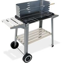 Justdeco - Superbe Bbq camping barbecue grill picknick roues mobile jardin plan de travail neuf