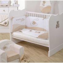 DOMIVA - Lit bébé acapulco blanc/taupe 60x120