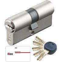 City - Cylindre de porte R50 barillet 30 x 40 mm 5 clés brevetées et carte Canon haute sécurité