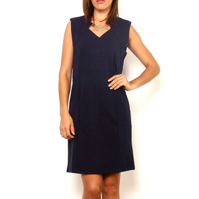 0ed3a874d79 Cendriyon - Robe Bleue Chic Marie June - pas cher Achat   Vente Robes -  RueDuCommerce