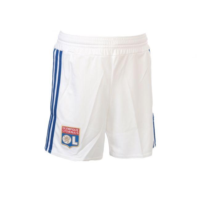 44dbf6efefd79 Adidas - Short de football Ol short blc 2015 16 jr Blanc 48699 - pas ...