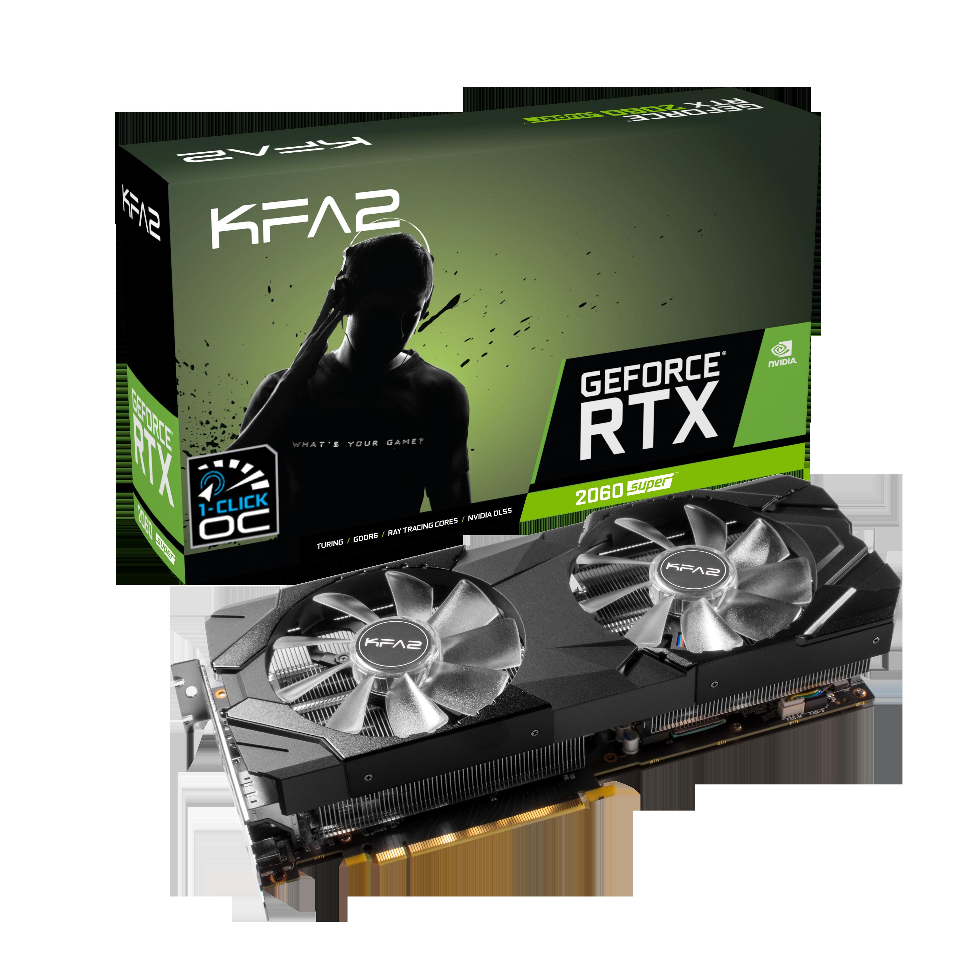 Carte graphique GeForce RTX 2060 Super EX 1-Click OC 8 Go KFA2