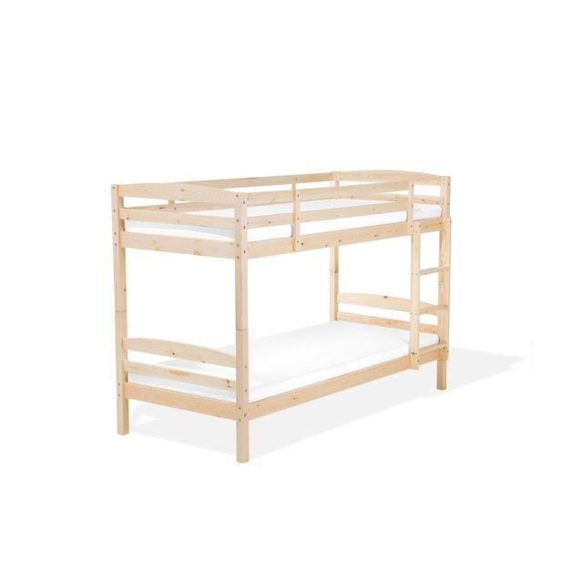 BELIANI Lit mezzanine en bois de pin REGAT - marron
