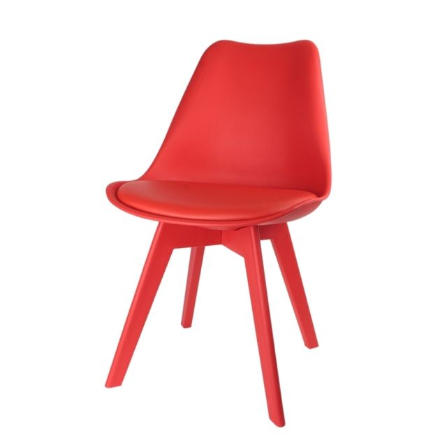 chaise scandinave full rouge pas cher achat vente poufs rueducommerce. Black Bedroom Furniture Sets. Home Design Ideas