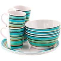 Easy Camp - Java Melamine Set - Vaisselle - 4 Persons Multicolore