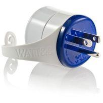 Watt&CO - Blister, Adaptateur Fr vers Usa bleu
