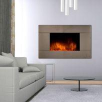 CHEMIN'ARTE - Cheminée electrique décorative design Pure Inox 044