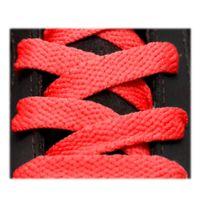 Neon - Lacets sport plat 125cm haute qualité rouge