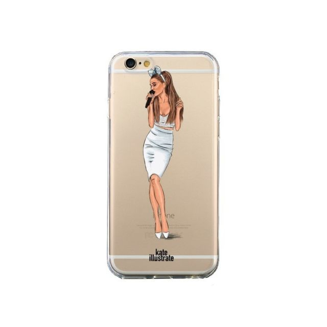 coque iphone 6 et 6s ice queen ariana grande chanteuse singer transparente kateillustrate