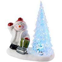 Provence Outillage - Bonhomme de neige avec arbre à Led
