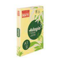 Rey - Ramette papier couleur Adagio couleurs pastel A3 80 gr - 500 feuilles - jaune
