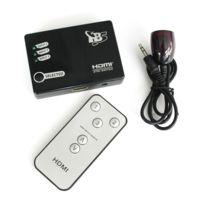Tbs - 2211 3x1 3 Ports Hdmi commutateur switch 3 entrées 1 Sortie, + télécommande Ir sans fil pour Hd-dvd, Ps3, Stb, ordinateur portale, Pc, Dv, Xbox 360, Hdtv, téléviseur etc.+support 1080p 3D