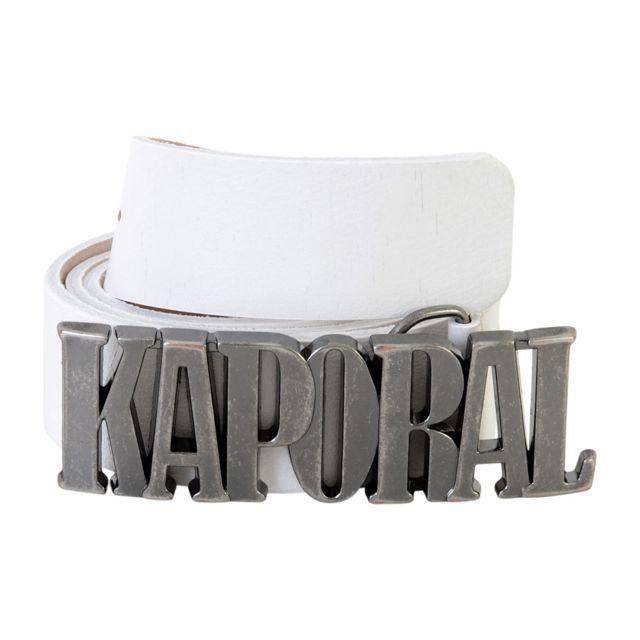Kaporal 5 - Ceinture Kaporal left Blanc - pas cher Achat   Vente ... aa898e4d40c