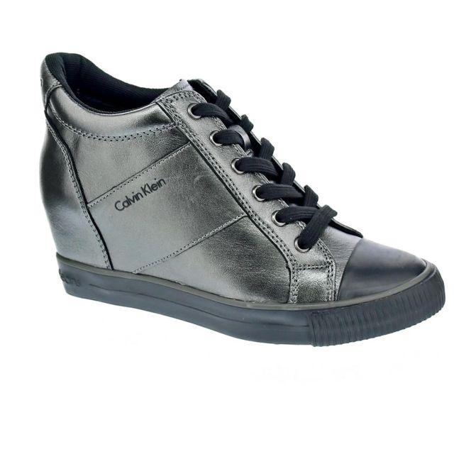 offres exclusives large choix de couleurs et de dessins à vendre Calvin Klein - Chaussures Femme Bottine modele Voss Gris ...