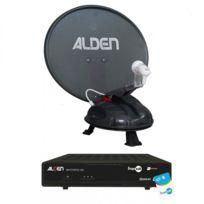 Alden - Vansat 60 Antenne Satellite Automatique Portable + Récepteur Fransat Satmatic Hd
