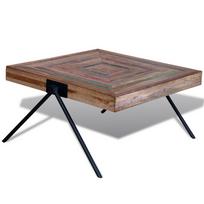 Rocambolesk - Superbe Table basse en teck recyclé avec pieds en V neuf