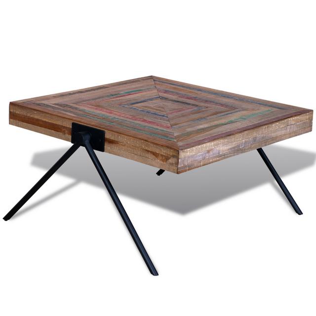 Vidaxl Table basse en teck recyclé avec pieds V
