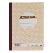 Le Dauphin - Cahier de facture Manifold autocopiant 14,8 x 21 cm 50 pages triple exemplaires